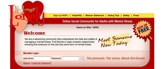 no longer lonely dating website